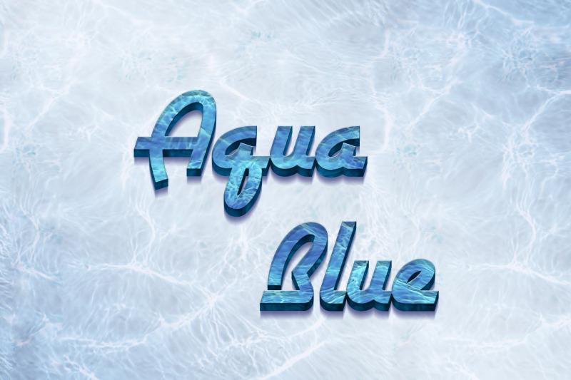 aqua-blue-3d-text-effect-template