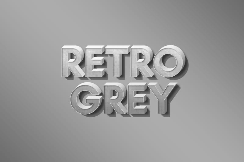 retro-grey-3d-text-effect-template