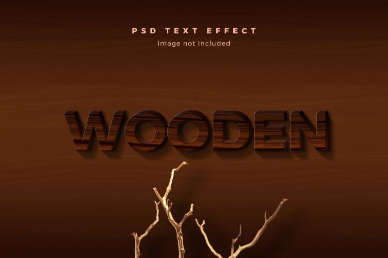 wooden-3d-text-effect-template