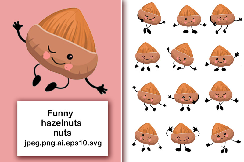 hazelnuts-nuts-cute-characters-with-human-faces-in-different-poses-b