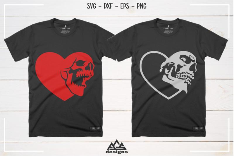heart-love-skull-svg-design