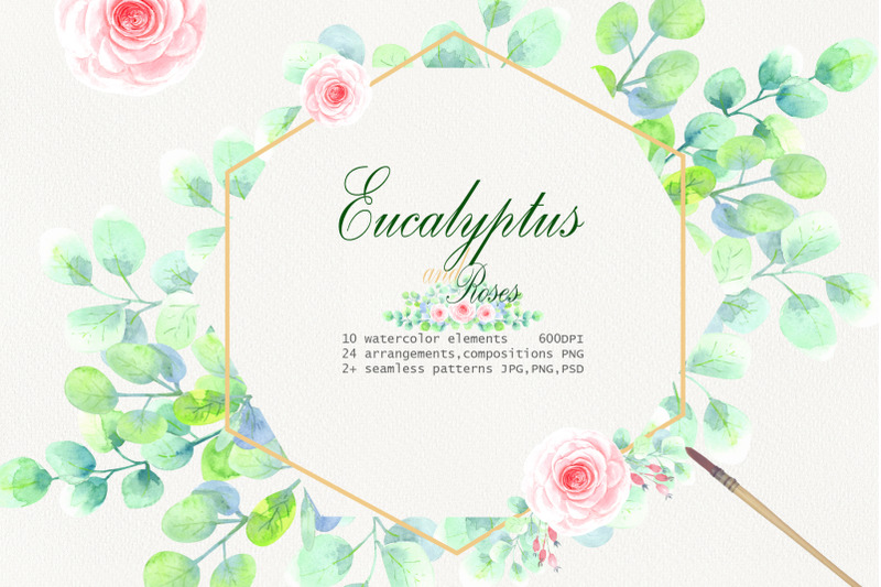 watercolor-eucalyptus-and-roses-clip-art