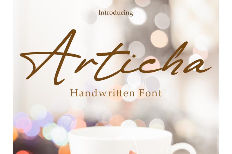 articha-handwritten-font