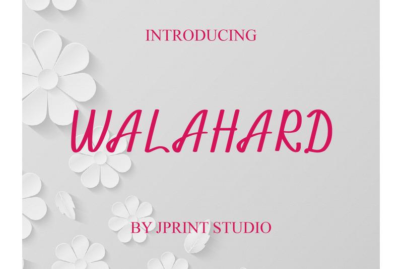 walahard-handwriting-font