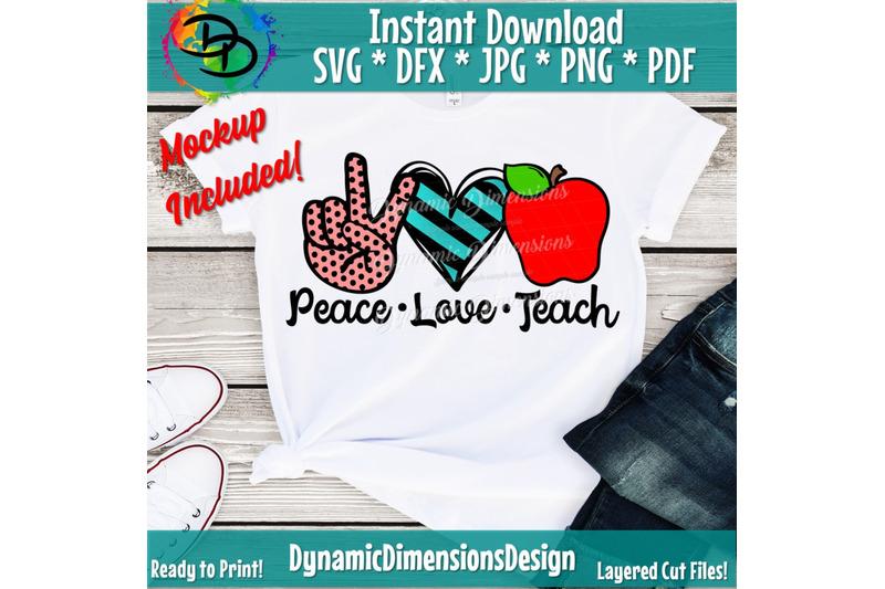 teacher-svg-peach-love-teach-svg-peace-love-svg-school-svg-love-te
