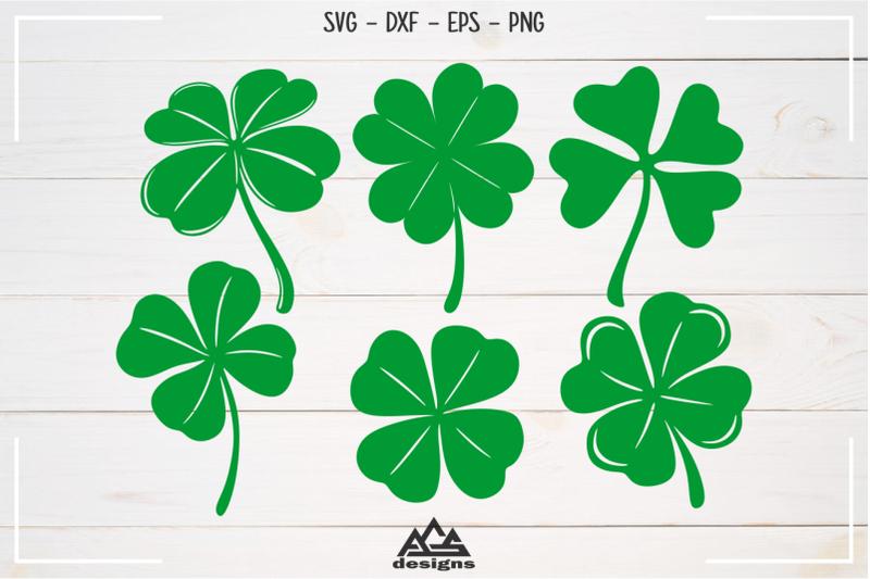 four-leaf-clover-plants-svg-design