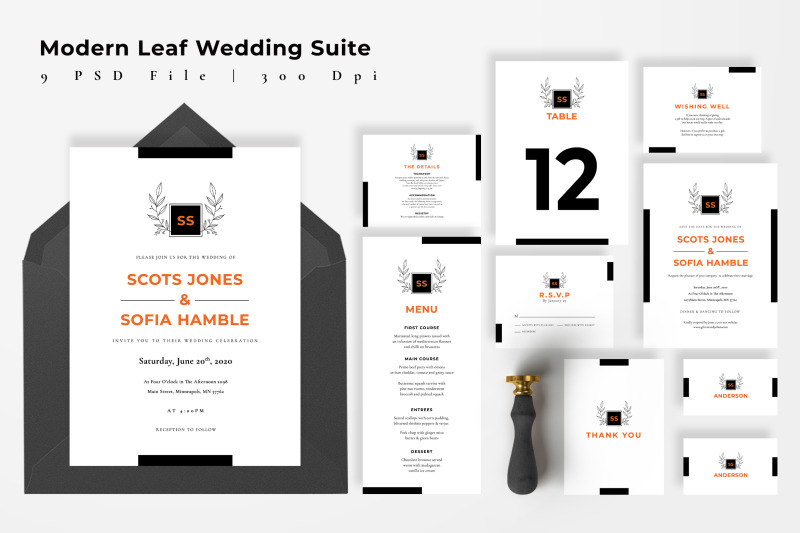 modern-leaf-wedding-suite