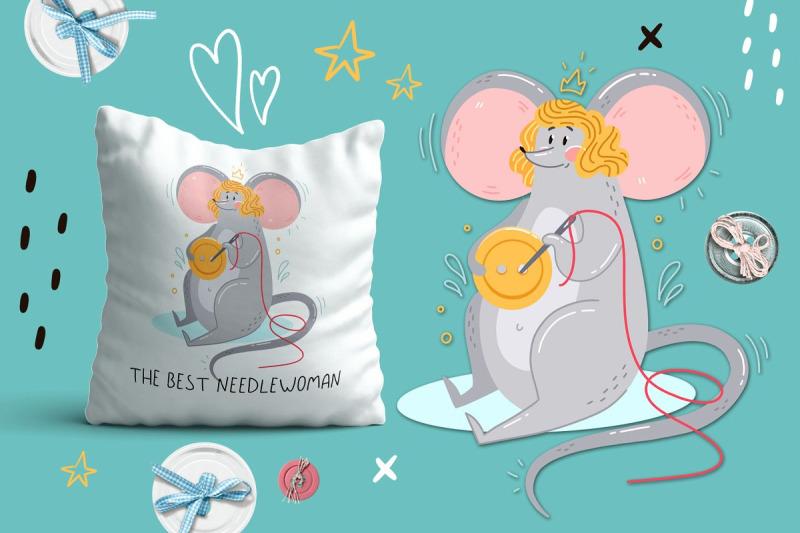 mice-portrait-set