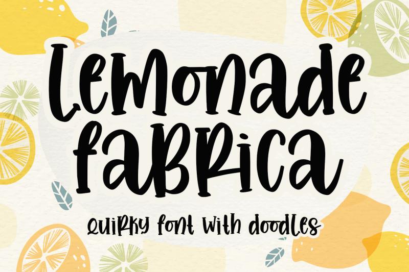 lemonade-fabrica-quirky-font-amp-doodle