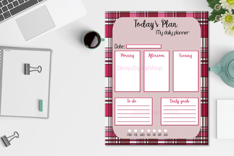 daily-planner-striped-stripes-planner-organize-day