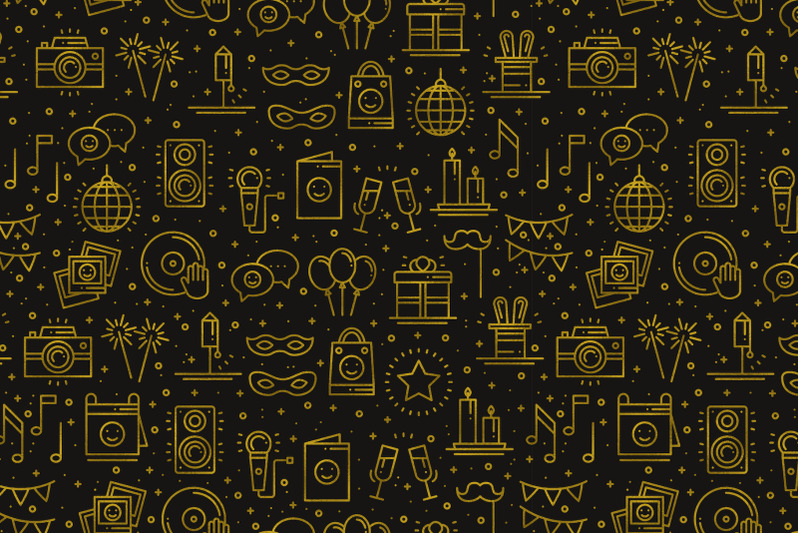 birthday-party-patterns-in-gold