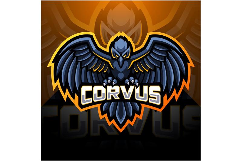 raven-esport-mascot-logo-design