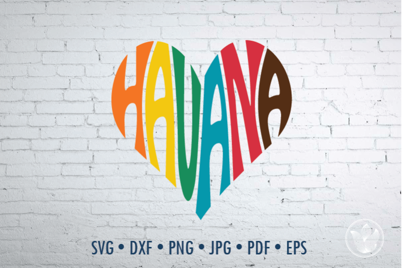 havana-word-art-heart-svg-dxf-eps-png-jpg-cut-file