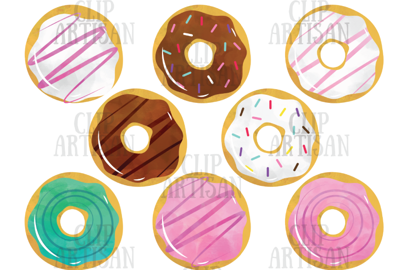 watercolor-donuts-clipart-doughnuts-clip-art