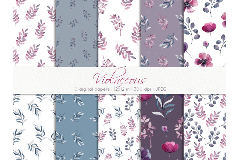 watercolor-seamless-floral-patterns
