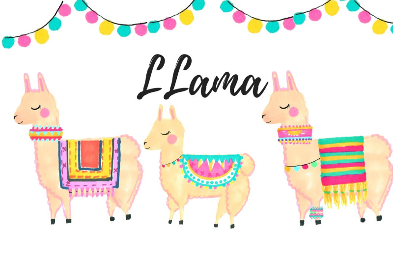 watercolor-llama-clip-art