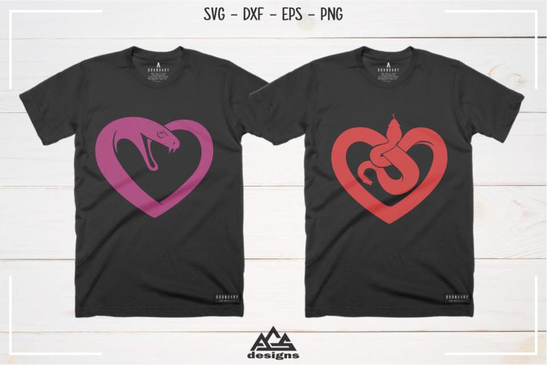 love-heart-snake-svg-design