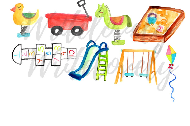 watercolor-playground-clip-art
