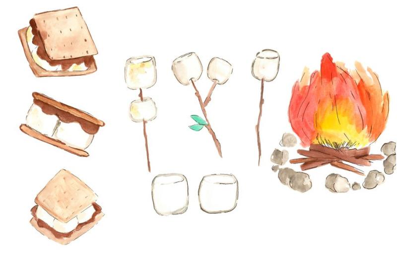 watercolor-camping-smores-clip-art