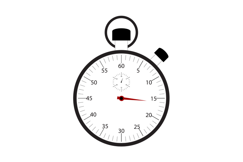 stopwatch-isolated-on-white-background-vector