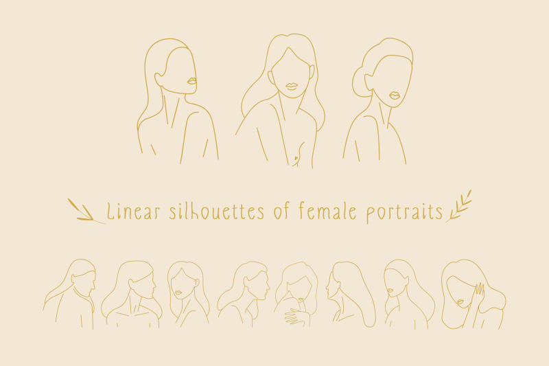 linear-silhouettes-of-female-portraits