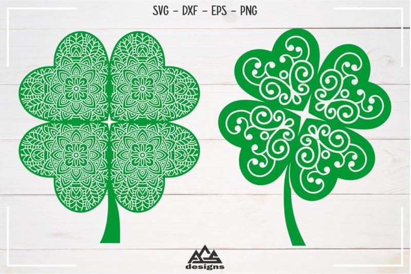 shamrock-clover-floral-mandala-svg-design