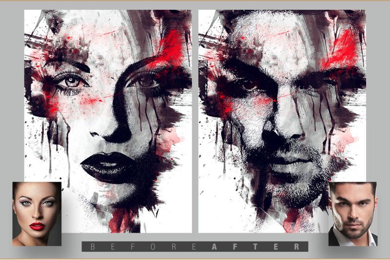 splatter-canvas-photo-template