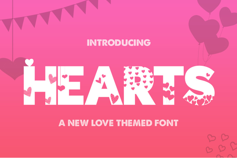 hearts-silhouette-font