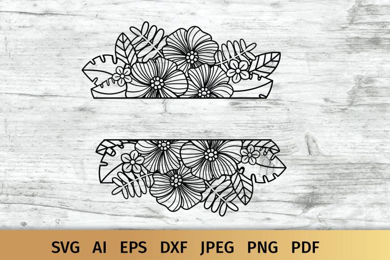 split-floral-border-svg