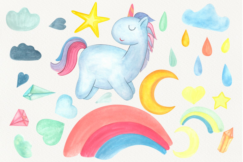 watercolor-unicorn-weather-clipart