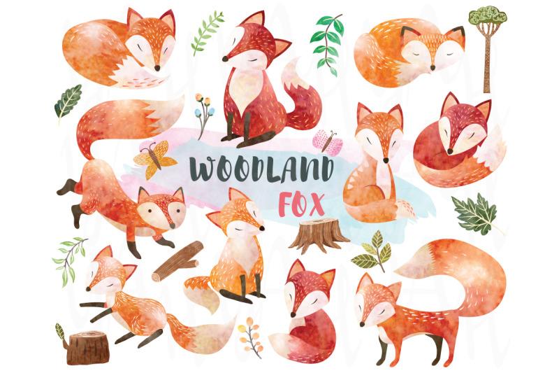 watercolor-woodland-animal-fox