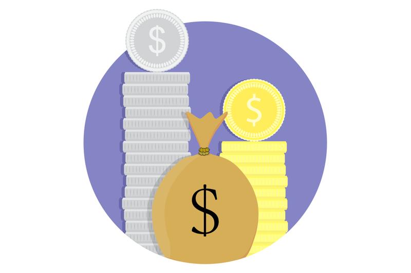 money-capital-icon-vector