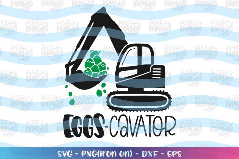 easter-svg-eggs-cavator-truck-heavy-equipment-operator
