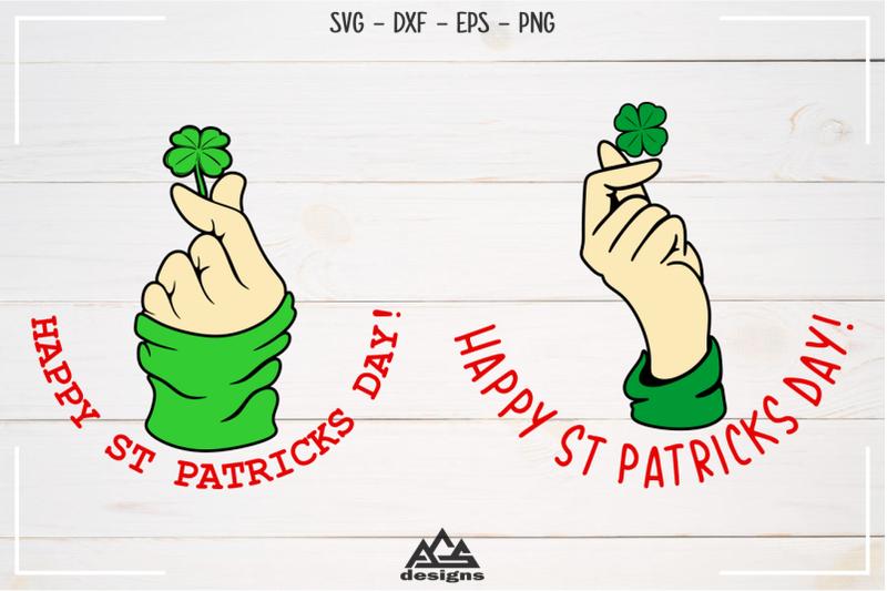 happy-st-patricks-day-shamrock-hand-gesture-svg-design