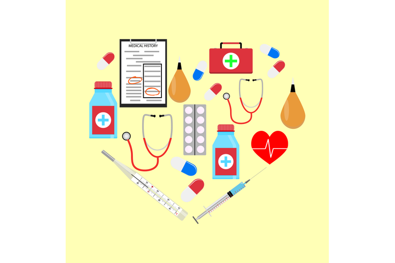 heart-form-with-medicine-icons