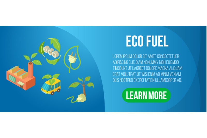 eco-fuel-concept-banner-isometric-style