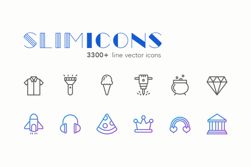 slimicons-3300-line-vector-icons