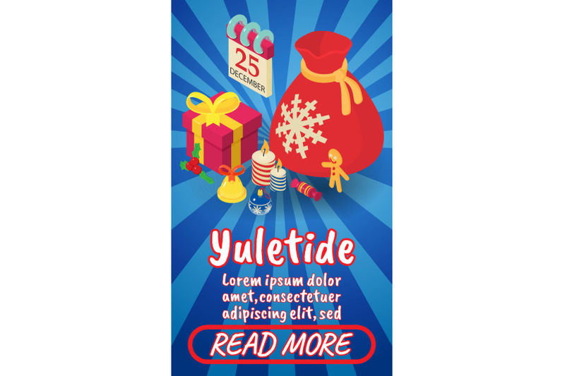 yuletide-concept-banner-comics-isometric-style