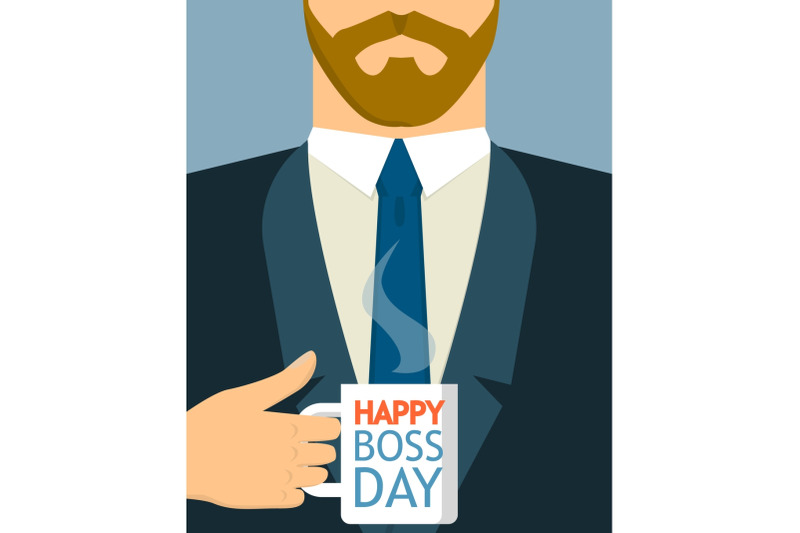 boss-day-concept-background-flat-style