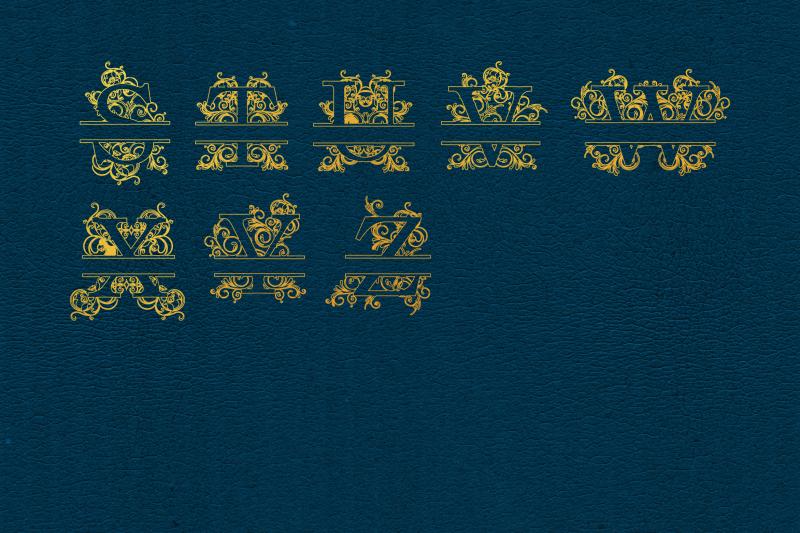 foil-quill-split-letters-single-line-letters-split-letters