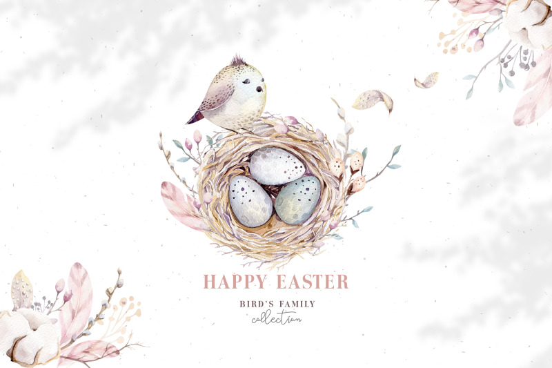 watercolor-happy-easter-birds-amp-nest
