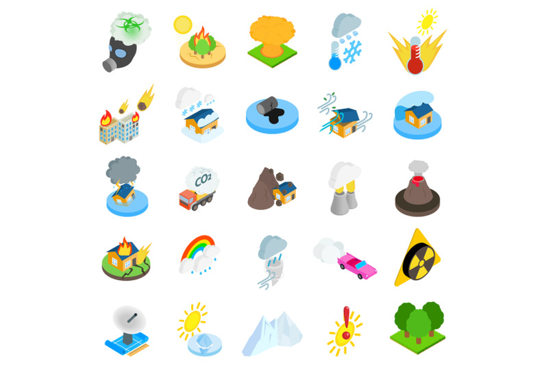 natural-disaster-icons-set-isometric-style