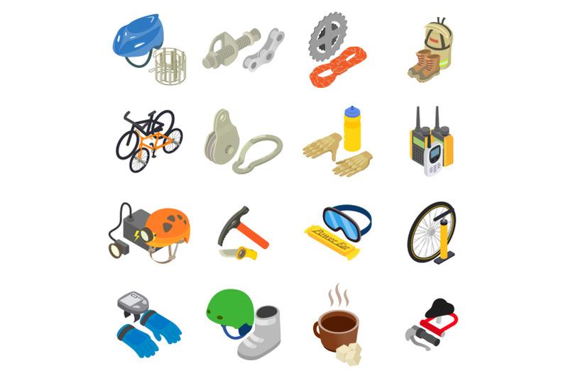mountain-travel-icons-set-isometric-style