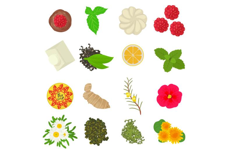 herbal-seasoning-icons-set-cartoon-style