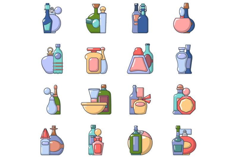cream-icons-set-cartoon-style
