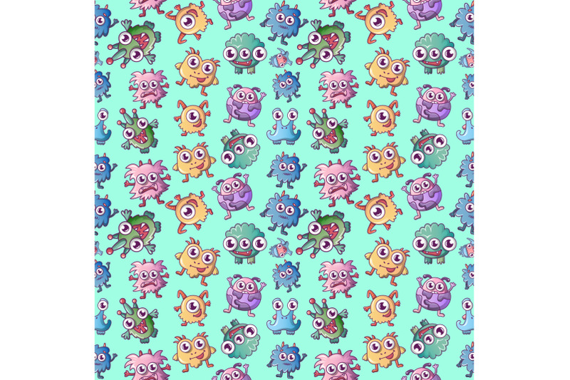 monster-pattern-seamless-cartoon-style