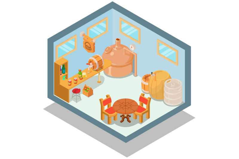 pub-concept-banner-isometric-style