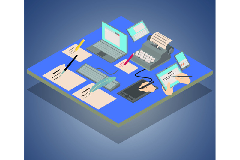 compose-concept-banner-isometric-style