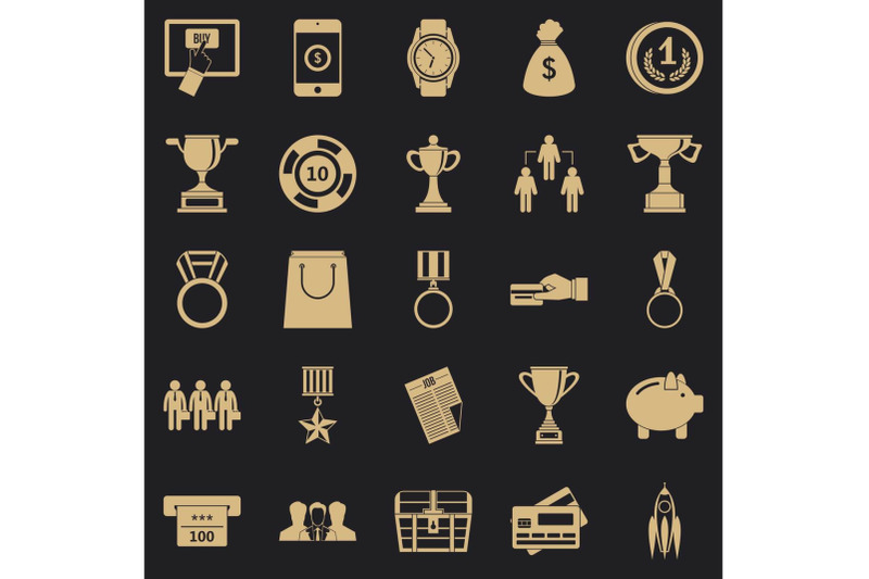 cash-transfer-icons-set-simple-style