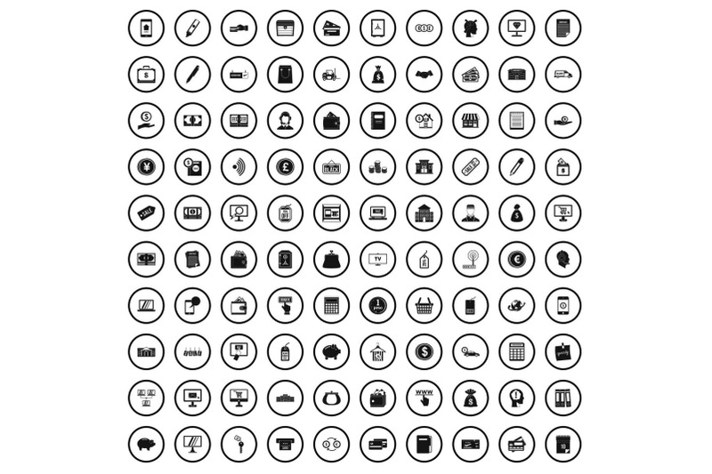 100-contribution-icons-set-simple-style